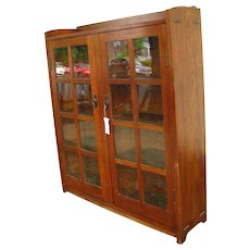 Antique Gustav Stickley Two Door Bookcase  w2719