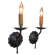 Antique Pair of Mission Arts & Crafts Lanterns  w2749
