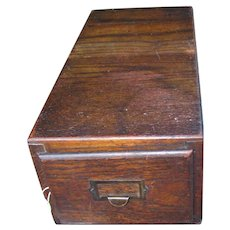Antique Great Looking Oak File Index  w2759