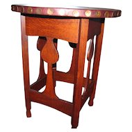 Superb And Rare Stickley Brothers Heart Cut-Out Table   w2766