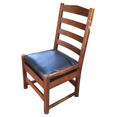 Rare Antique Gustav Stickley Chestnut Side Chair  w2775