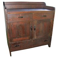 Antique Compact Small Sideboard/ Server w2823