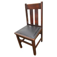 Antique Arts & Crafts Chair Made by Ritter  w286
