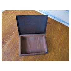Antique Heintz Bronze Small Covered Box with Silver Inlay w2887