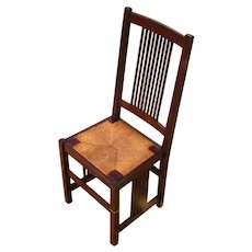 Antique Gustav Stickley Spindle Chair w2922