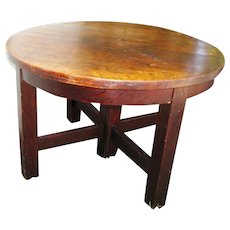 Nice Antique Mission Arts & Crafts Dining Table in the Style of Gustav Stickley  w2960