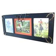 Antique Period Frame with Horses  w2297