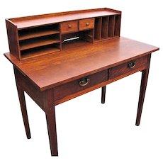 """Antique """"Gustav Stickley"""" Desk with Top Organizer  w2982"""