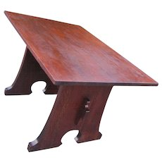 Antique L&jG Stickley Mouse Hole Table  w3039
