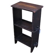 Antique Arts & Crafts Book/ Magazine Stand  w3081