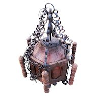 Antique Arts & Crafts Hanging Chandelier  w3105