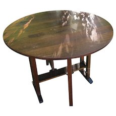 Antique L&jG Stickley Drop Leaf Table  w3127