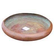 Superb Antique Kalo Shop Large Hammered Copper Bowl w3143