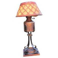 Rare Antique Gustav Stickley Table Lamp  w3150