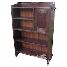 "RARE Early ""L&jG"" Stickley Open Bookcase   w3152"