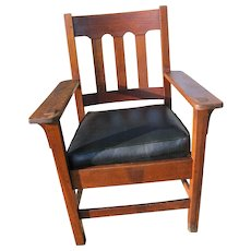 Antique Good Stickley Brothers Arm Chair w3161