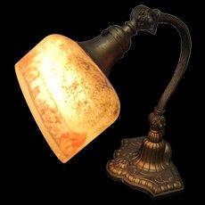 "Antique ""Bellova"" Desk Lamp with Adjustable Shade  w3184"