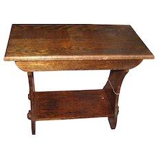 Antique Arts & Crafts Short Bench  w3245