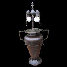 Superb & Rare Antique Large Roycroft Table Lamp  w3302