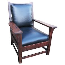 Antique Early & Large Gustav Stickley Armchair  w3334