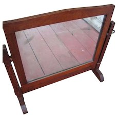 Antique Gustav Stickley Table Mirror  w3371