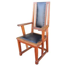 Rare Antique Stickley Brothers Armchair w3375