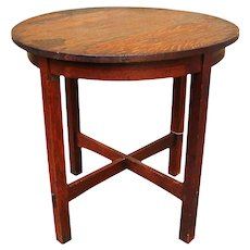 Antique L&jG Stickley Lamp Table  w338