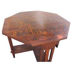Antique Nice Brooks Octagon Table w362