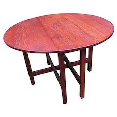 Superb Antique Stickley Brothers Drop Leaf Table w3910