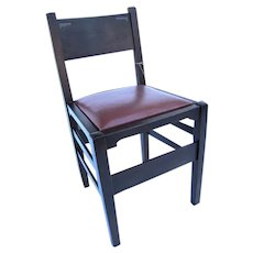 Antique Gustav Stickley Earliest Chalet Desk Chair w3931