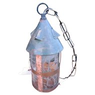 Antique Arts & Crafts Hanging Ceiling Lantern  w3991