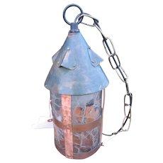 Antique Arts & Crafts Hanging Ceiling Lantern  w3991