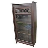 Antique Brooks One Door Bookcase  w4011