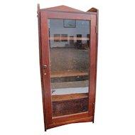 Antique Arts & Crafts One Door Bookcase  w4047