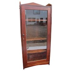 Antique Arts & Crafts One Door Bookcase  w4047