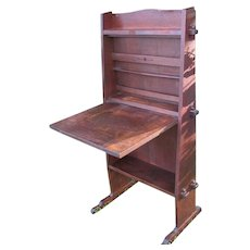 Superb Early Gustav Stickley Oak Chalet Desk  w4062