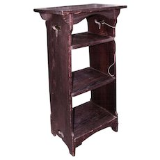 Great Antique Arts & Crafts Magazine Stand  w4065