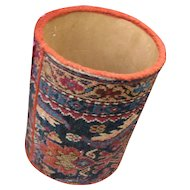 Vintage Oriental Rug Waste Basket  w4067