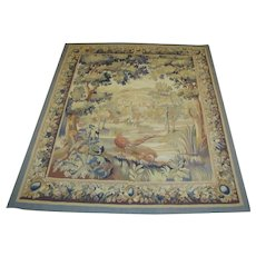 Antique Handmade European Tapestry  w4119