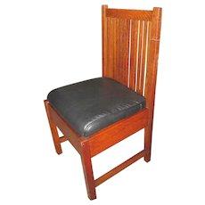 Superb Antique Gustav Stickley Desk Chair  w4134