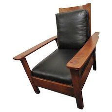 Superb Antique Limbert Large Morris Chair  w4138