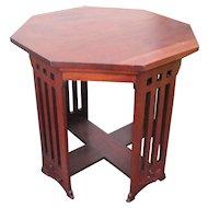 "Antique ""Michigan Chair Company"" Hexagon Table  w4196"