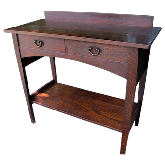 Antique Gustav Stickley Serving Table w4217