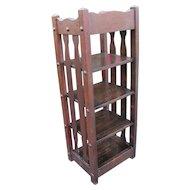 "Antique ""Michigan Chair Company"" Magazine/ Book Stand   w4259"