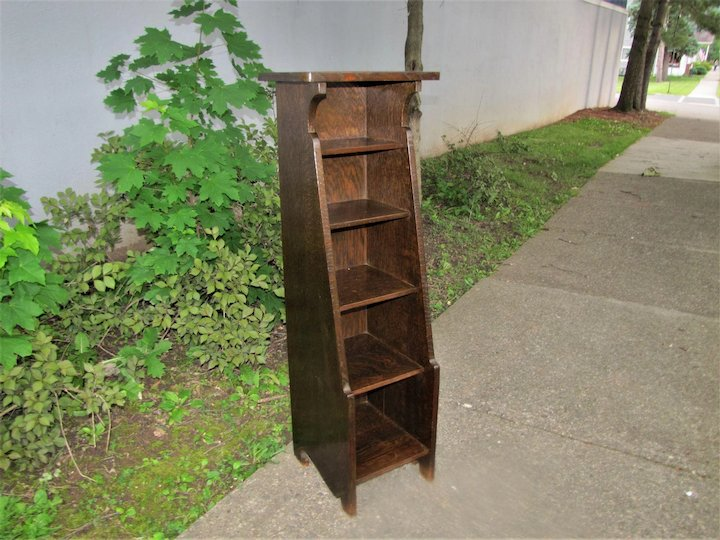 Antique Early Stickley Brothers Magazine Stand w4259a - Antique Early Stickley Brothers Magazine Stand W4259a : Antique