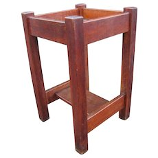 Antique Arts and Crafts L&jG Stickley Plant Stand  w4269
