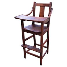 Antique Stickley Brothers High Chair (Child's Chair)  w4278