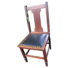 Antique Arts & Crafts Side Chair w4282