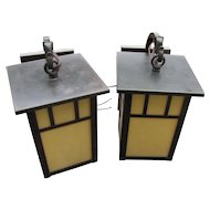 "Pair of Vintage Sconces ""Arroyo Craftsman""  w4286"