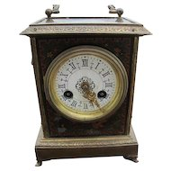 Antique Brass Decorated Clock  w4289
